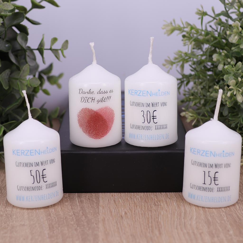 Kerzenhelden Gutscheinkerzen 15€, 30€ & 50€